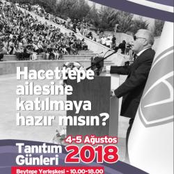 Hacettepe Üniversitesi Tanıtım Günleri 4 Ağustos'ta Başlıyor