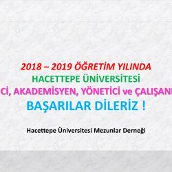 2018 – 2019 Öğretim Yılında Başarılar Dileriz