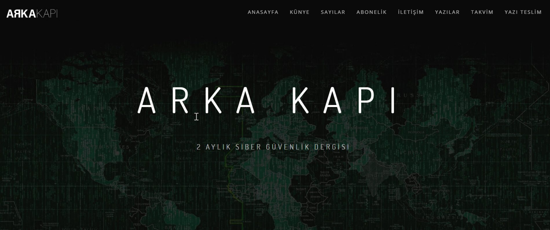 ARKA KAPI : Siber Güvenlik Dergisi