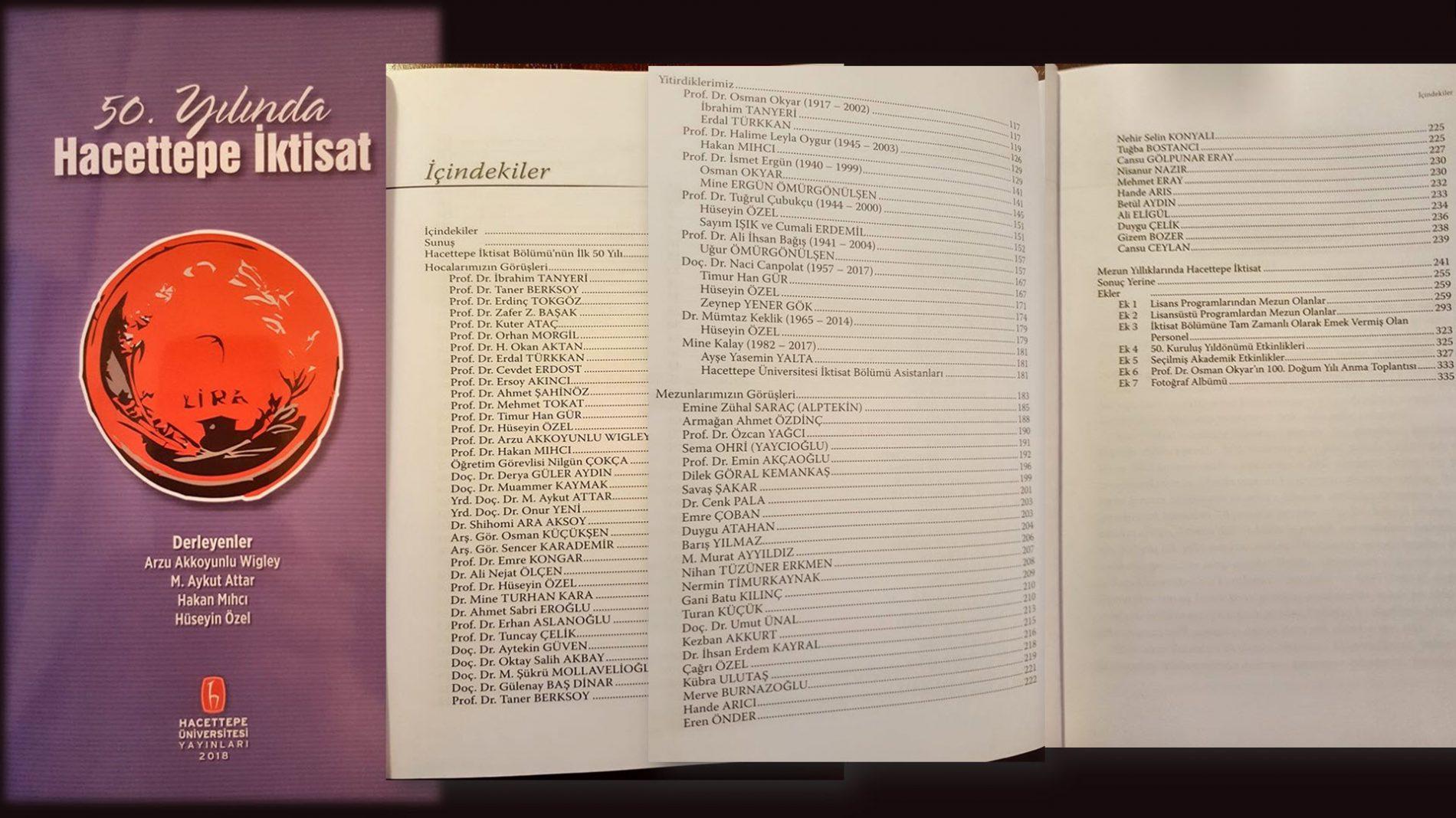 50. Yılında Hacettepe İktisat kitabı yayımlandı