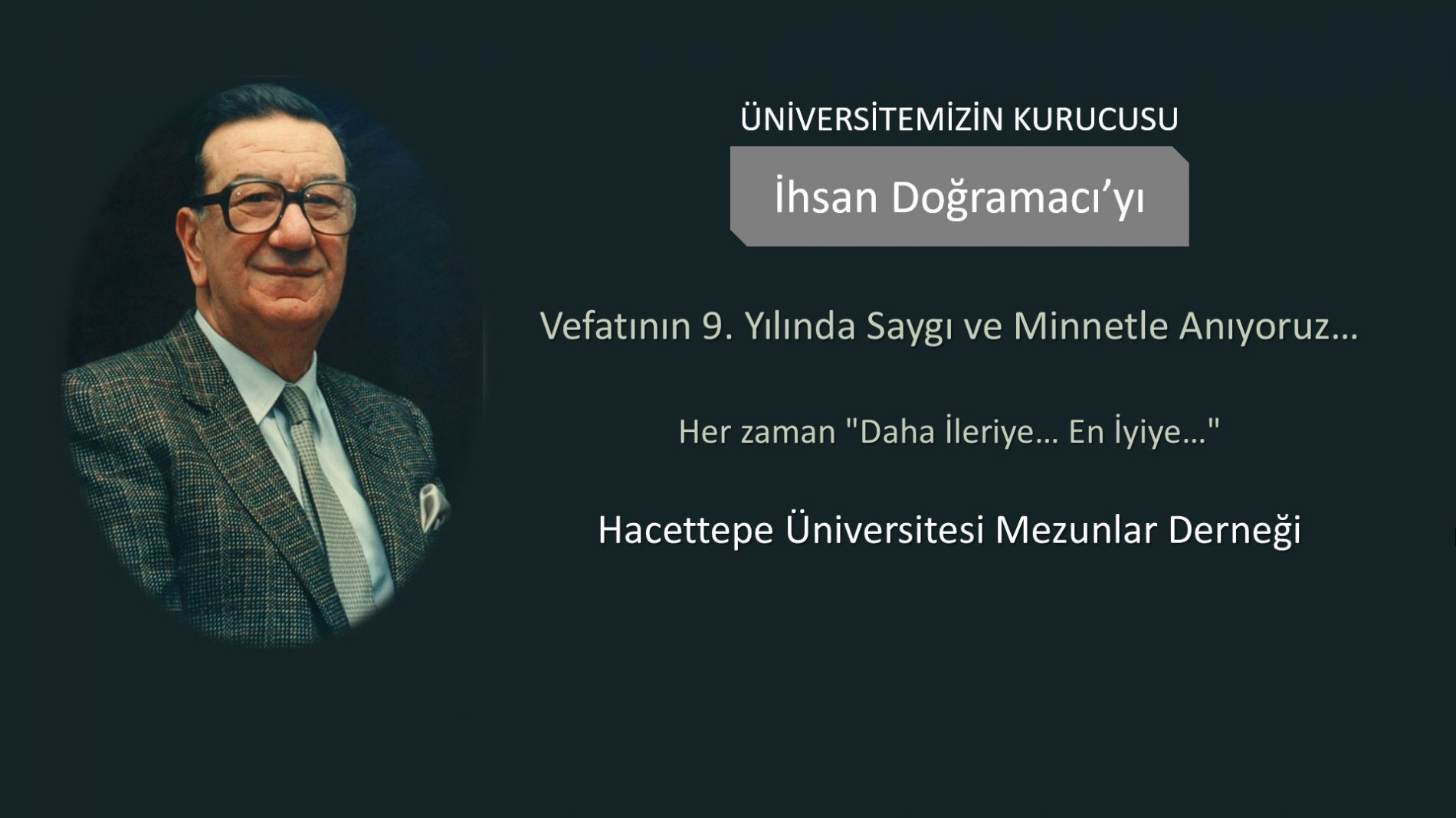 Üniversitemizin Kurucusu İhsan Doğramacı'yı Saygı ve Minnetle Anıyoruz…
