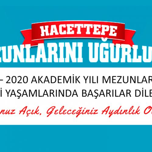 Hacettepe Üniversitesi 2019-2020 Akademik Yılı Mezunlarını Uğurluyor