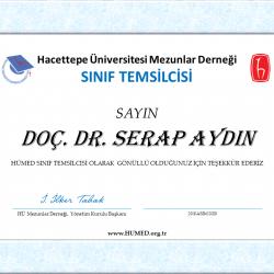 Doç. Dr. SERAP AYDIN Sınıf Temsilcisi Oldu