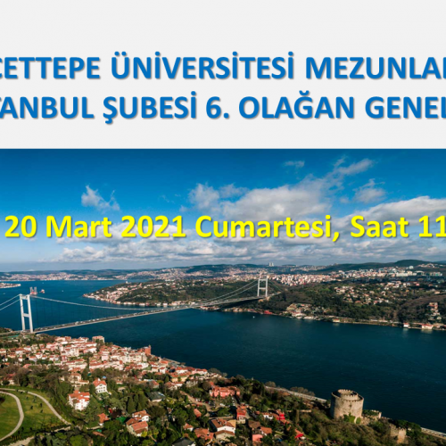 HÜMED İstanbul Şubesi Genel Kurulu * 20 Mart 2021 Cumartesi