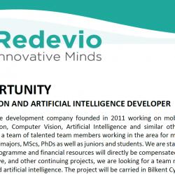 Redevio Ar-Ge Bilgi ve Operasyon Teknolojileri Ltd. Çalışma Arkadaşları Arıyor