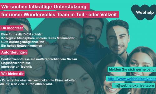 WEBHELP Almanca Bilen Çalışma Arkadaşları Arıyor