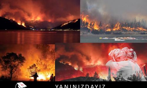 Orman Yangınlarında Zarar Görenler Yararına Bağış Kampanyası